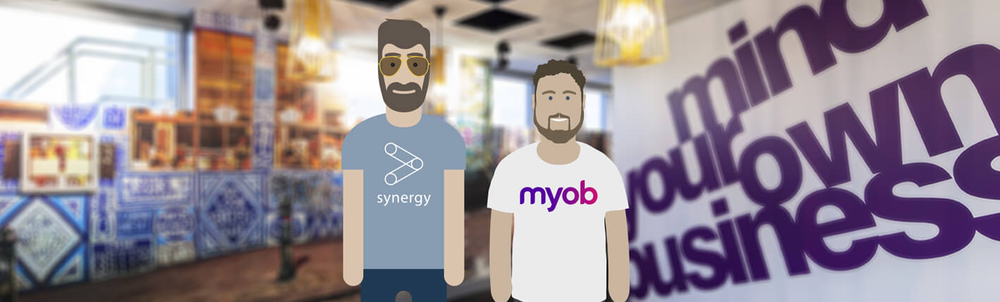 Synergy connects with MYOB for seamless, two-way exchange of financial information.