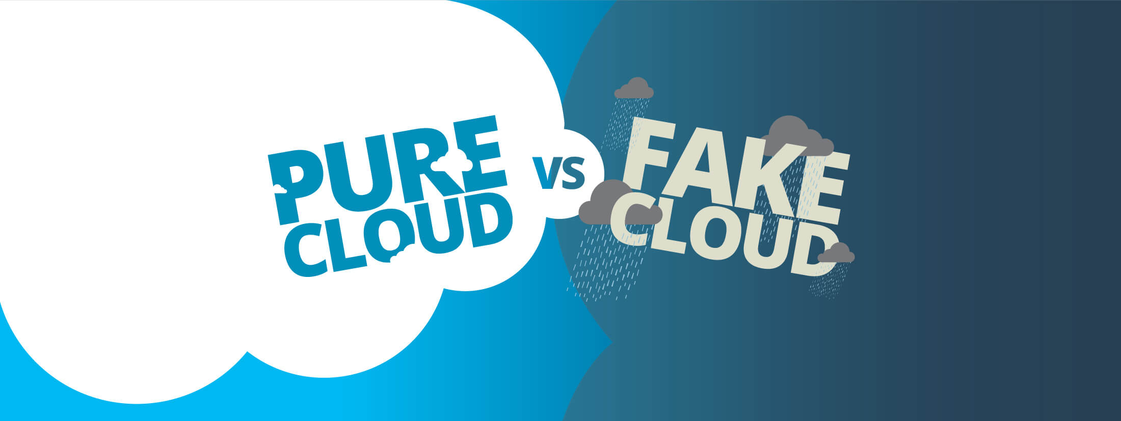 Pure cloud versus fake cloud — know the differences.