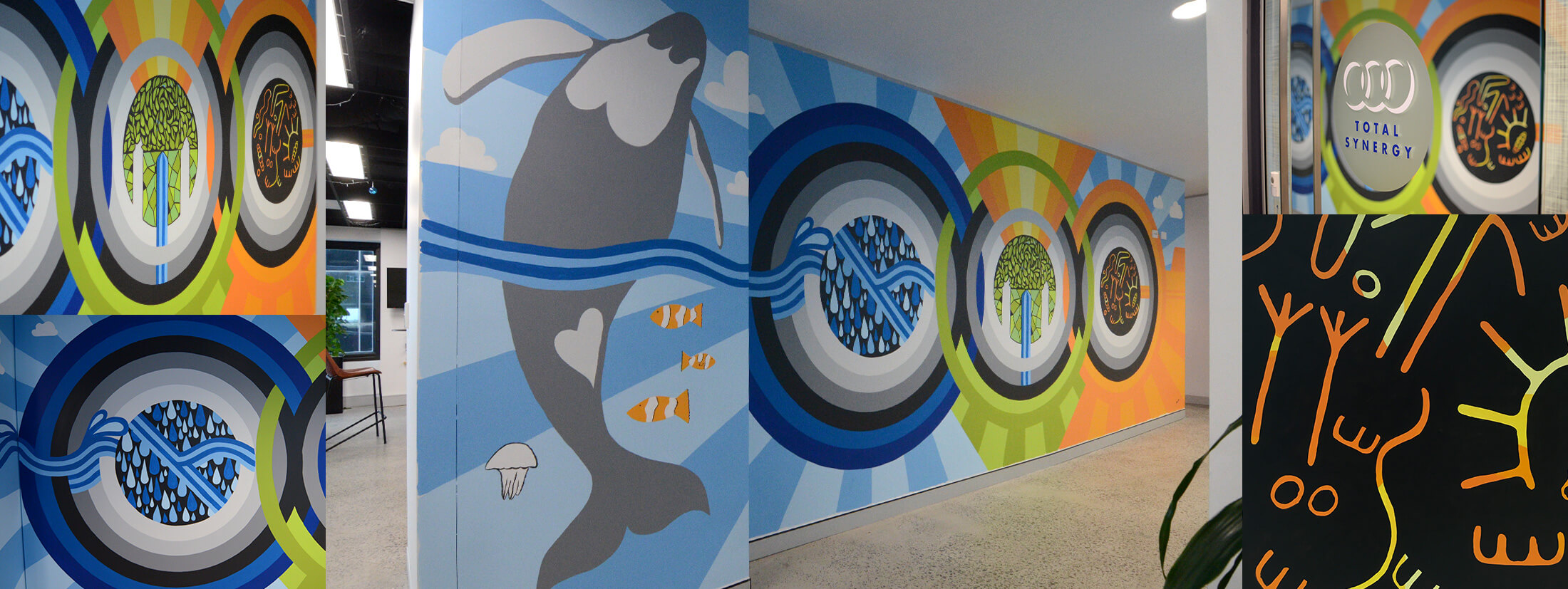 The story behind Total Synergy's office mural.